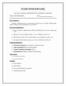 Basic Resume Examples | Template Business