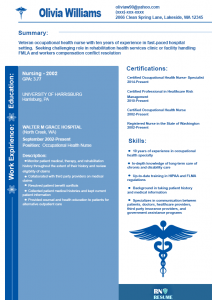basic resume sample occupational health nurse resume
