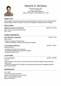 basic resume sample classic