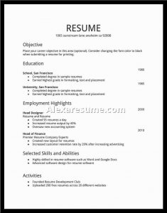 basic resume samples sample of simple resumes template basic format for resume simple job resume