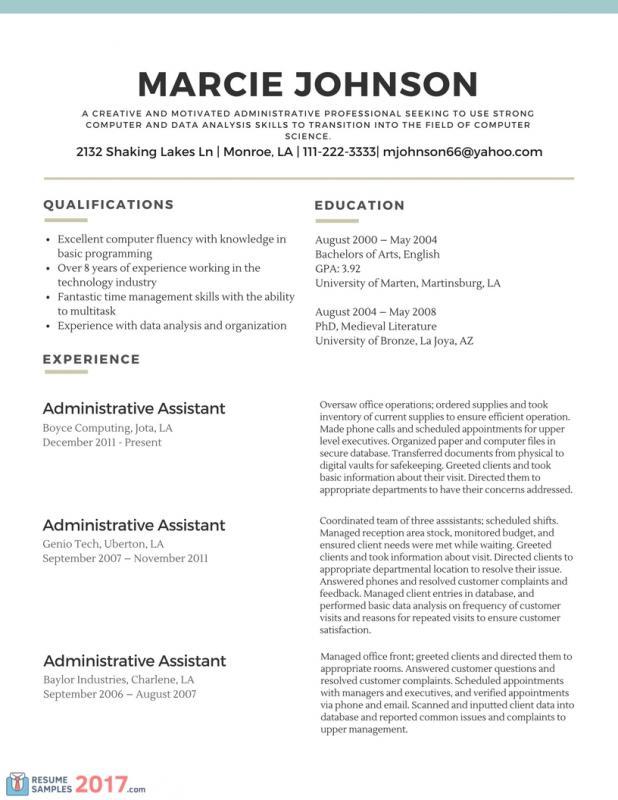 basic resume template word