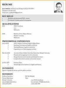 basic resume template word sample of curriculum vitae for job application curriculum vitae examples for teachers
