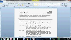 basic student resume templates how to make an easy resume in microsoft word youtube with best way to make a resume template