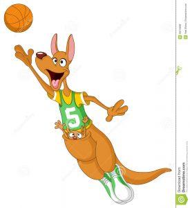 basketball player drawing basketball kangaroo