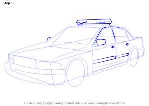 basketball player drawing how to draw police car step