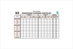 bathroom cleaning schedule bathroom cleaning schedule pdf template free download