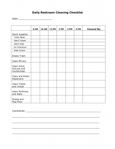 bathroom cleaning schedule daily bathroom cleaning checklist