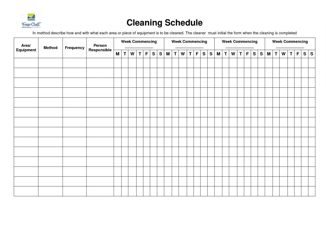 bathroom cleaning schedule