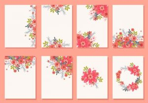 beach wedding invitation floral wedding invitation card vectors