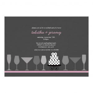 beach wedding invitation modern cocktail party bridal shower card design ebeca