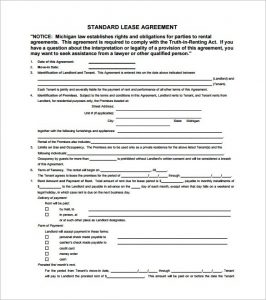 beat lease contract standard lease agreement template