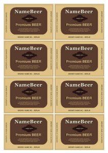 beer bottle label template beerb
