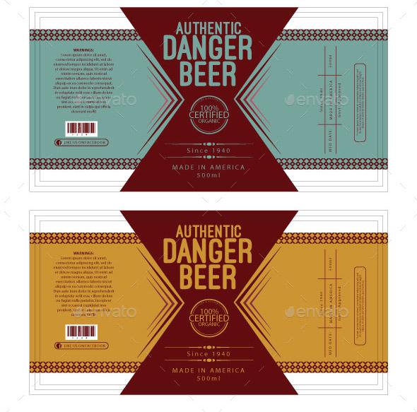 beer label template
