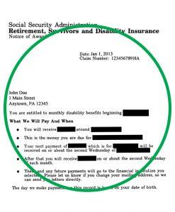 benefit verification letter social security award letter copy social security award letter letter ssdiaward