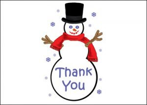 bereavement thank you ty ch snowman thank you cards
