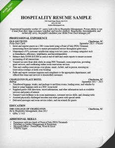 best resume objectives hospitality front desk resume sample professional experience