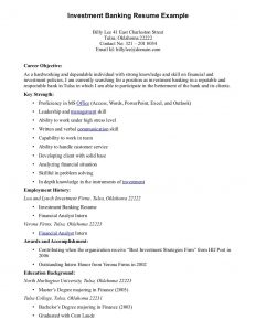 best resume objectives resume examples best good career objective for investment banking resume example