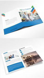 bi fold brochure company bi fold brochure mockup