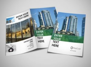 bi fold brochure template commercial real estate bi fold brochure template thumb