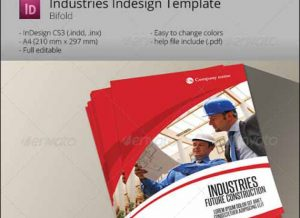 bi fold brochure template industries bifold template indesign brochure a