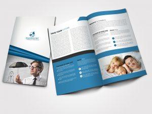 bi fold brochure template insurance corporate bi fold brochure by designhub dfei
