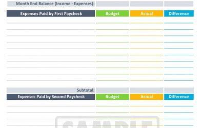 bi weekly budget bi weekly budget worksheet printable