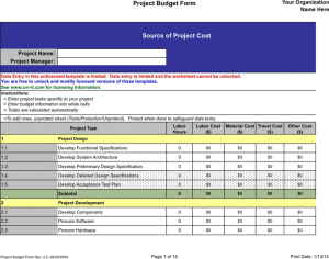 bi weekly budget template project budget template