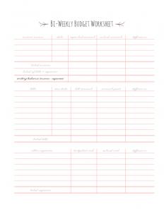 bi weekly pay calendar blank bi weekly budget worksheet l