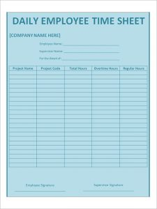 bi weekly timesheet template employee daily timesheet template