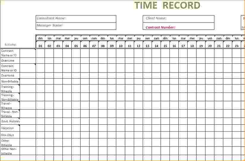 bi-weekly timesheet template