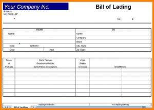 bill of lading sample pdf blank bill of lading pdf