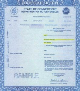 bill of sale ct connecticut front