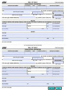 bill of sale for trailers california dmv bill of sale reg x