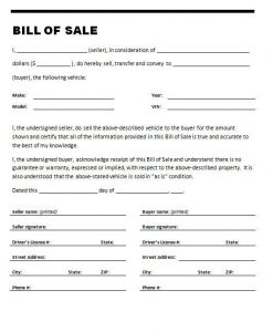 bill of sale for used car bill of sale for used car on stylecars with used car bill of sale template