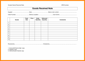bill of sale format good received note format others template business templates every bit of life goods receipt note grn format x