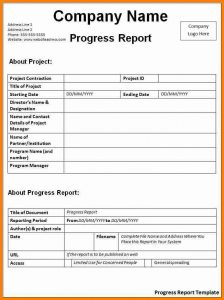bill of sale format progress report sample progress report template