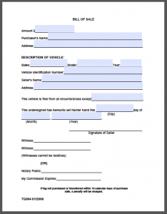 bill of sale template pdf bill of sale form madison county