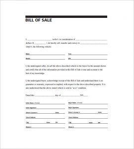 bill of sale template pdf bill of sale general purpose