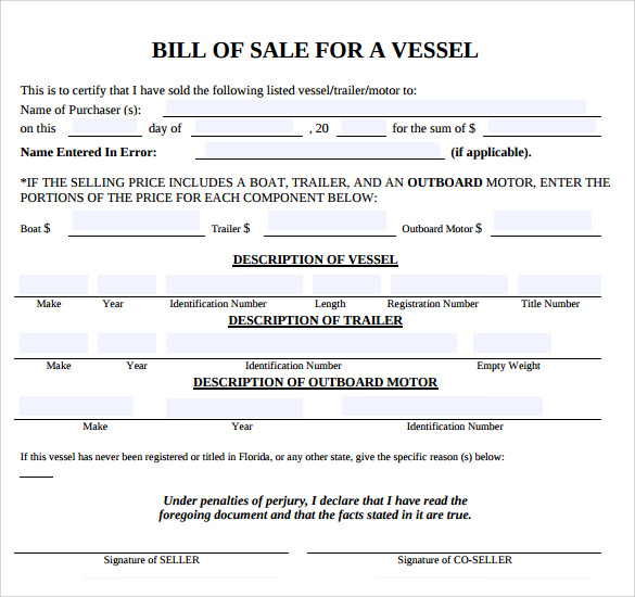 bill of sale template pdf