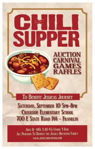 bingo template pdf chili supper flyer x