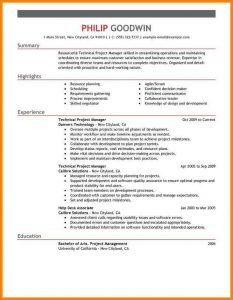 biology cover letter construction management skills resume technical project manager computers and technology