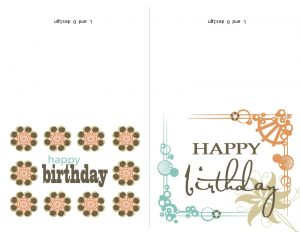 birthday card template word free birthday cards to print for wife