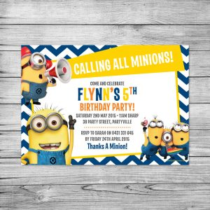 birthday card template word minion party invitations is best collection ideas you may choose for invitations sample