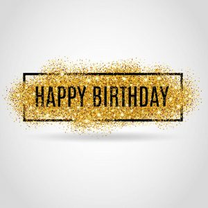 birthday flyer template gold happy birthday sparkles background background greeting background card flyer poster sign banner web