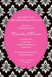 black and white party invitations dfcpinkdamask