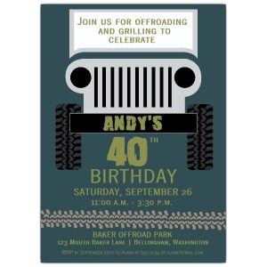black and white party invitations z
