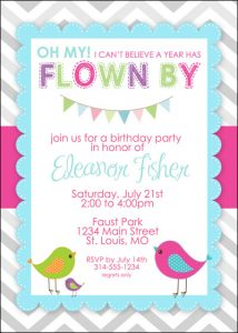 blank birthday invitations little bird birthday invitation