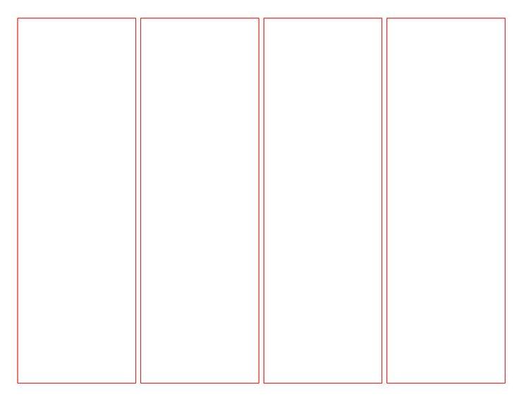 blank bookmark template