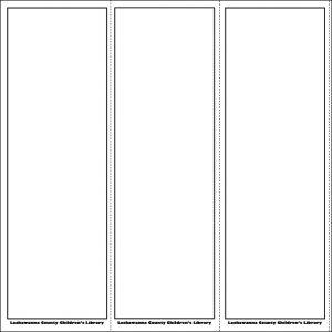 blank bookmark template free blank bookmark templates