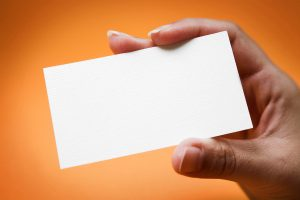 blank business card blank business card